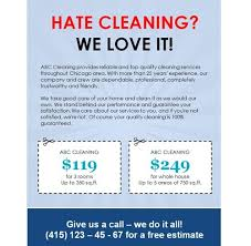 advertising a cleaning business sample business flyer delli beriberi co