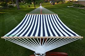 two person hammock with stand. Deluxe Extra Large Two Person Blue And White Quilted Hammock Set With 15 Foot Long Metal Stand