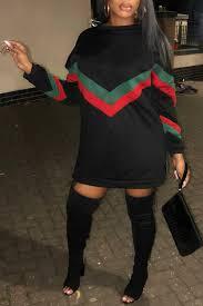 Lovelywholesale Size Chart Lovely Causal Patchwork Black Mini Dress