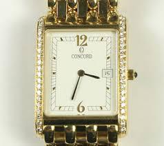 men 039 s all 18k yellow gold veneto collection concord diamond image is loading men 039 s all 18k yellow gold veneto