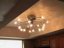 attractive kitchen track ceiling lights with sparkly stars lighting decoration ideas