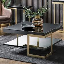 arodena gloss black coffee table with