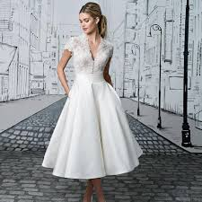 Tea Length Wedding Dresses The Prettiest Designs For Vintage
