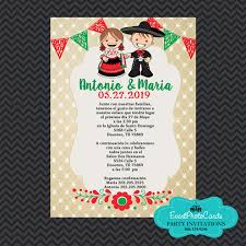 Wedding Invitations Red Green Mexican Wedding Announcements