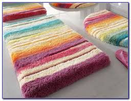 attractive striped bath rug with adorable striped bath rug colorful bathroom rug sets rugs home