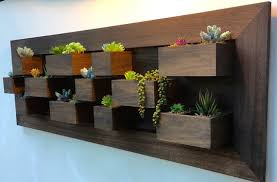 vertical wall garden mocha solid wood