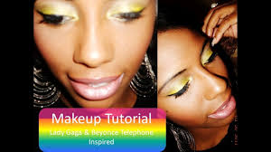 easy makeup tutorial lady a beyonce telephone inspired