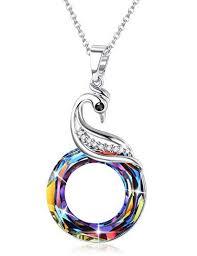sllaiss phoenix crystal necklace