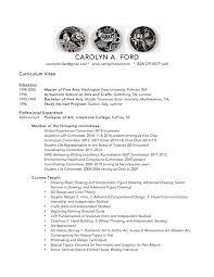Curriculum Vitae Resume Curriculum Vitae Resume Teaching Philosophy Carolyn Ford Art