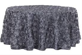rosette satin tablecloth pewter lightbox moreview