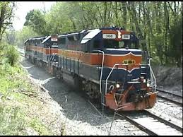 Maryland Midland GP-38 Train Engines - YouTube