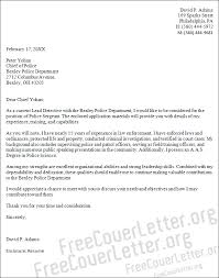 Cover Letter For Chief Of Staff Position Police Sergeant Cover Letter Sample