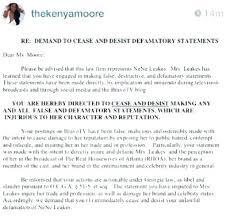 cease and desist order sle slander libel defamation and intentional inflection emotional cease desist order letter