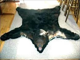 faux bear skin rug with head bearskin teddy for fur fake nursery