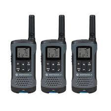 motorola walkie talkie. talkabout t200tp rechargeable 2-way radio, gray (3-pack) motorola walkie talkie