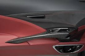 acura nsx interior 2013. the 2013 nsx concept interior features red leather and carbon fiber acura nsx h