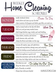 cleaning schedule printable a quick efficient home cleaning routine printable cleaning schedule