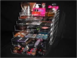 large acrylic makeup organizer