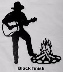 western cowboy and guitar metal wall art silhouette western cowboy metal wall art on cowboy metal wall art with cowboy and guitar metal wall art silhouette cowboy metal wall