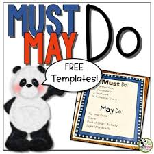 Templates For Signs Free Must Do May Do Signs Template Free Editable Pdf Download Tpt
