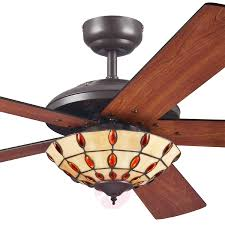 comet t ceiling fan with a tiffany style lampshade 9602240 02