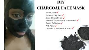 how to make the best charcoal face mask get rid of acne blackheads whiteheads easy diy