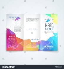 Tri Fold Brochure Layout Vector Modern Trifold Brochure Design Template Stock Vector Royalty
