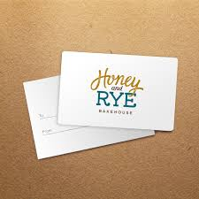 Business Gift Cards With Logo Gift Card Honey Rye Bakehouse