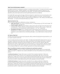 Summary Section Of Resume Examples Professional Summary Examples How ...