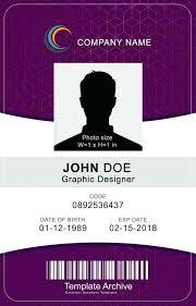 Id Card Templates Free Id Card Design Template