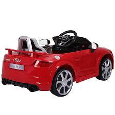 Costway Red 12V Audi TT RS Electric Kids Ride On Car Licensed ...