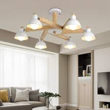 Light Wood And White Bedroom Us 99 0 50 Off Nordic Design Modern Led Black White Wood Chandeliers Lighting For Indoor Home Living Room Bedroom In Chandeliers From Lights