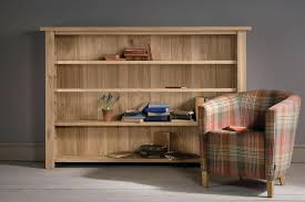 oak bookcase solid bookcases with glass doors bookshelves