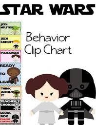 Star Wars Behavior Chart Star Wars Classroom Behavior Clip Chart Great Classroom And