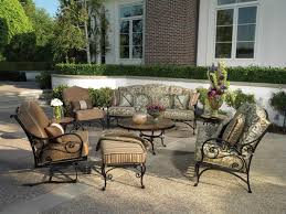 ideas for patio furniture. Fascinating Terrace Exterior Ideas Combines Prepossessing Outdoor Wrought Iron Patio Furniture . For I