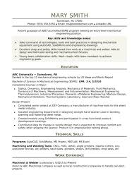 Resume Samples For Freshers Mechanical Engineers Free Download Mechanical Engineering Resume Templates Resumes Engineer Template 52