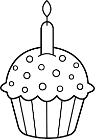 Small Picture Birthday cupcake coloring pages with candle ColoringStar