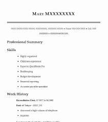 Reconciliation Clerk Resume Sample Clerk Resumes Livecareer