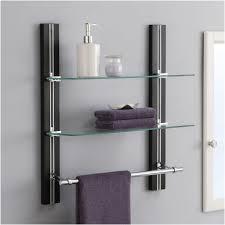 home design bathroom shelf with towel bar beautiful glass bathroom shelves with towel bar ideas bar