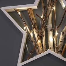 lighting twigs. wooden battery light up nordic star with twigs warm white leds lighting