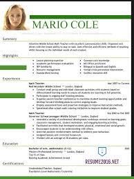 latest resume samples