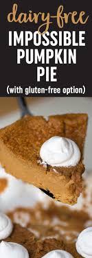 dairy free impossible pumpkin pie
