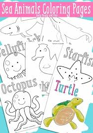 coloring book pages of sea s ocean and free printable easy for kids