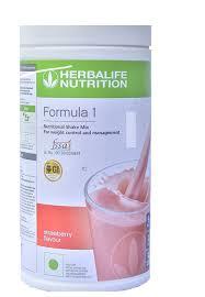 herbalife formula 1 shake strawberry health drink 500 gm