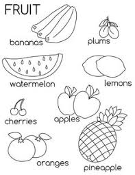 Small Picture Fruit Coloring Pages Free Printable Easy peasy Free printable