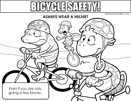 Small Picture Coloring Bicycle Safety