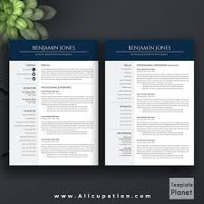 Modern Resume Template Cv Template Cover Letter 1 2 3 Page