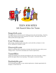 Job sites teen job search