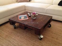Coffee Tables  Beautiful Small Coffee Table With Wheels And On Pallet Coffee Table On Wheels
