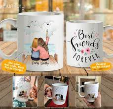 The most common friends coffee cup material is porcelain & ceramic. Personalized Best Friend Birthday Gifts Coffee Mug Wooden Dock 227 Unifury